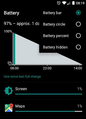 OneplusX-percento batérie