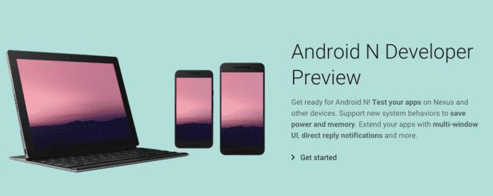 Ukážka pre vývojárov systému Android N.