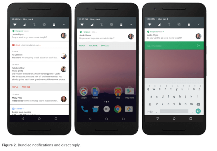 Upozornenie na Android N.