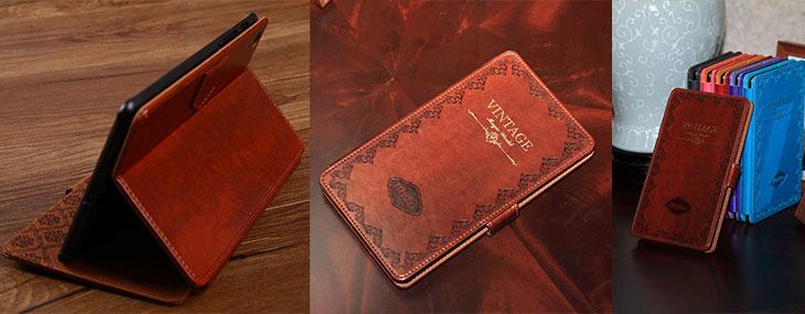 vintage retro puzdro na knihu pre nexus 7