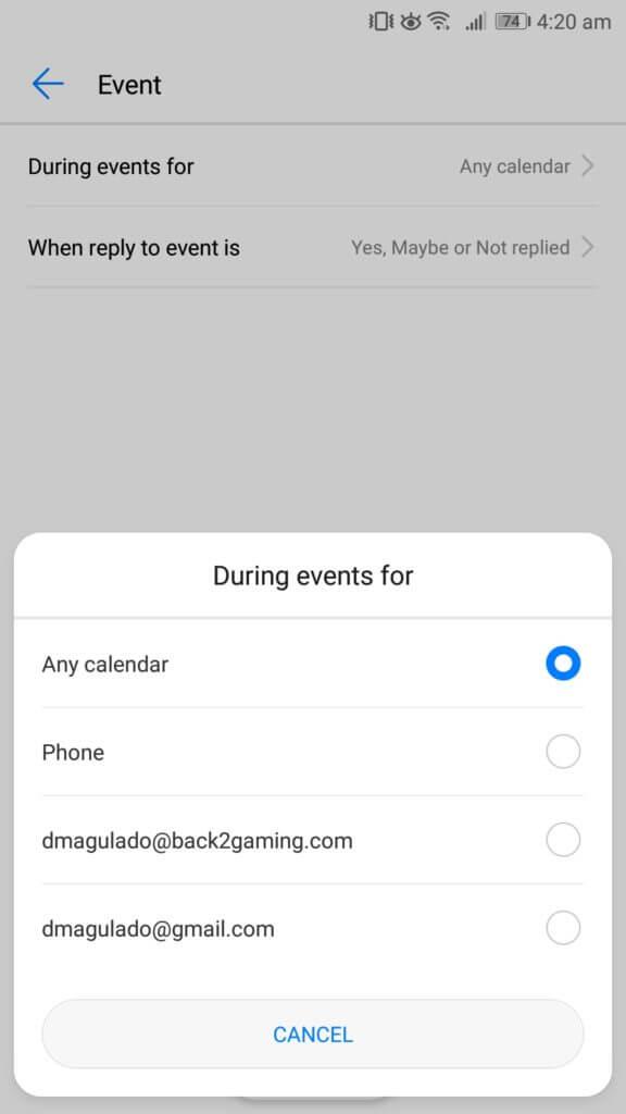 Nerušte android počas udalostí