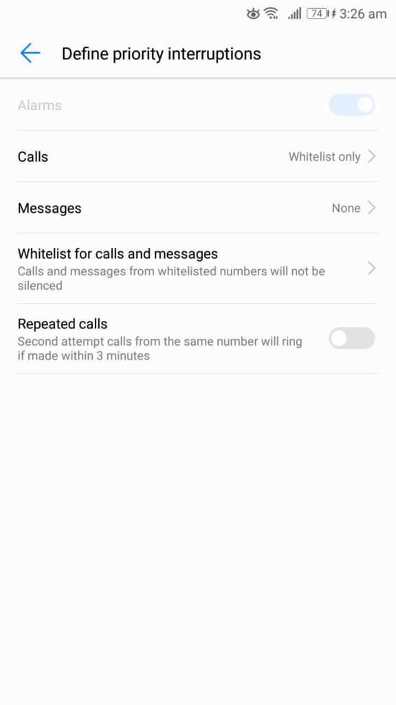 nerušiť definovať prioritné prerušenia telefón s Androidom