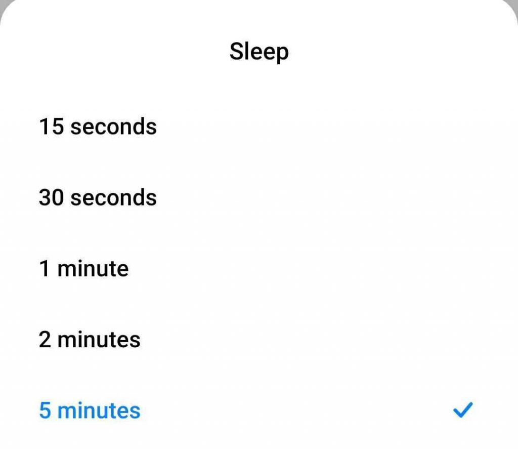 zmeňte čas spánku, keď sa časový limit obrazovky systému Android stále resetuje