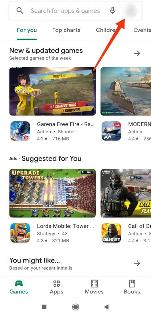 ikona profilu Google Play