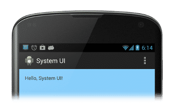 skryť stavový riadok v systéme Android