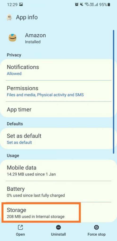 úložisko v nastaveniach aplikácie