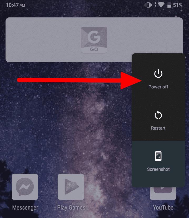 Ako vypnúť núdzový režim v systéme Android - vypnúť