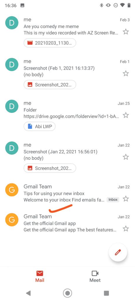 všetky štítky pošty v gmaile
