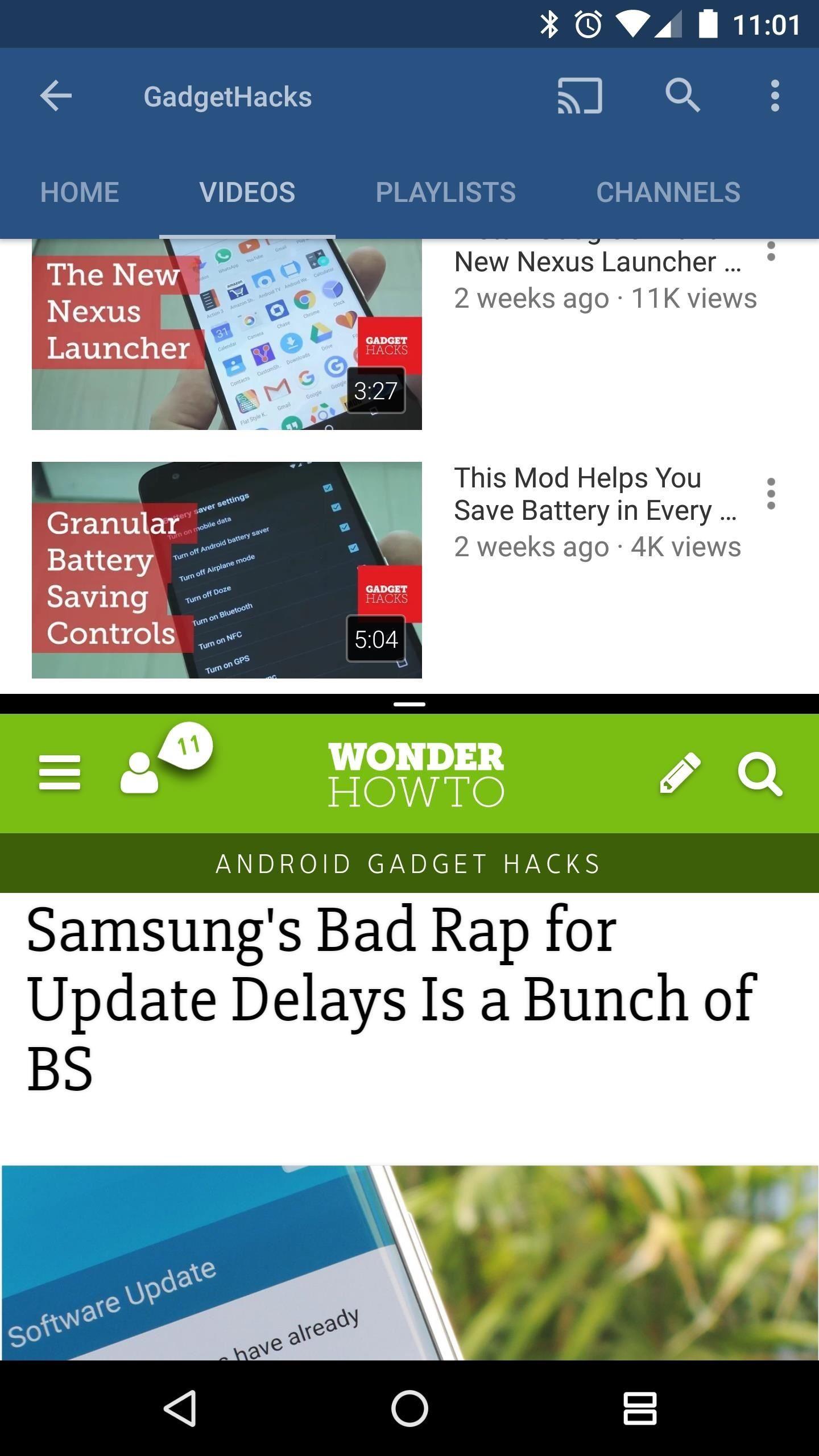 Rozdelená obrazovka na zariadení Android
