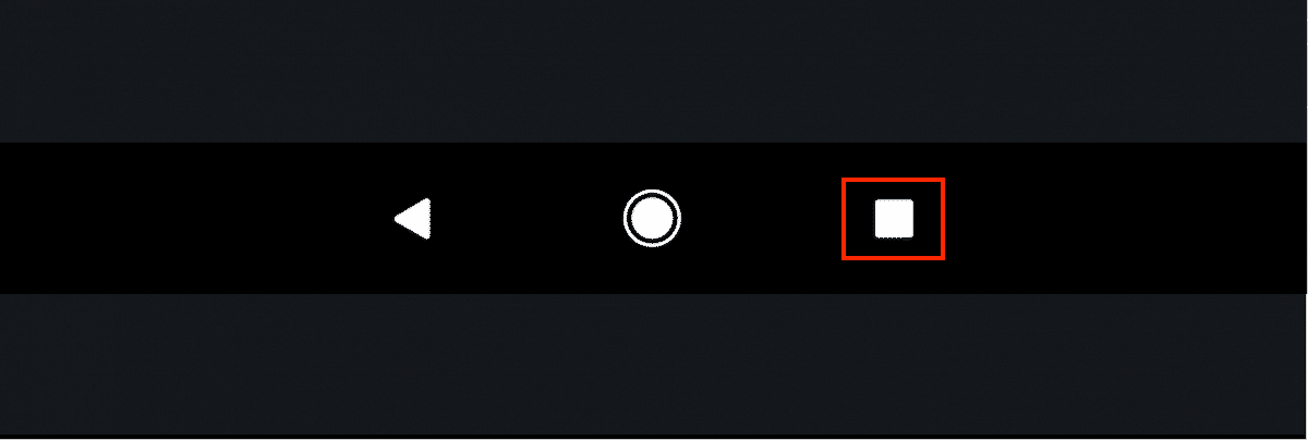 Tlačidlo Nedávne aplikácie na spodnej obrazovke