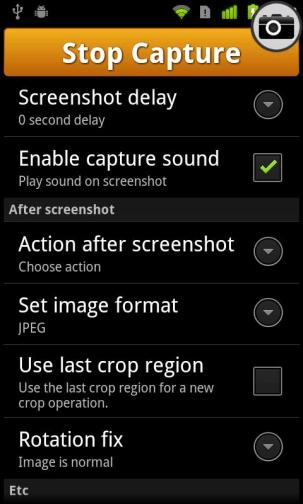 Možnosti UX snímky obrazovky