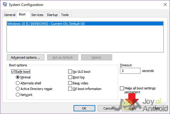 Vykonajte zmeny v konfigurácii