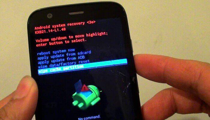 vymažte vyrovnávaciu pamäť v systéme Android vymazaním oddielu vyrovnávacej pamäte v režime obnovenia