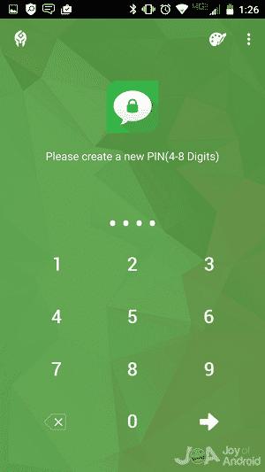Ako skryť SMS v systéme Android - vytvorte PIN