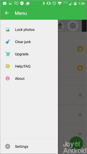 Možnosti ponuky - ako skryť SMS v systéme Android