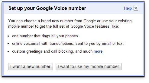 Výzva na mobilné číslo Google Voice