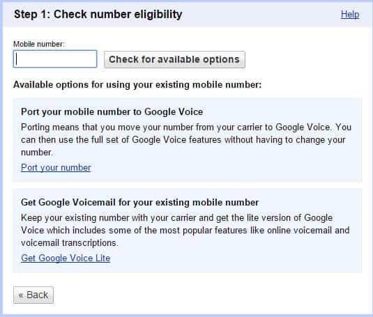 Výzva na spôsobilosť čísla pre hlas Google