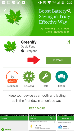 Nainštalujte Greenify, aby sa predĺžila životnosť batérie Samsung Galaxy S6