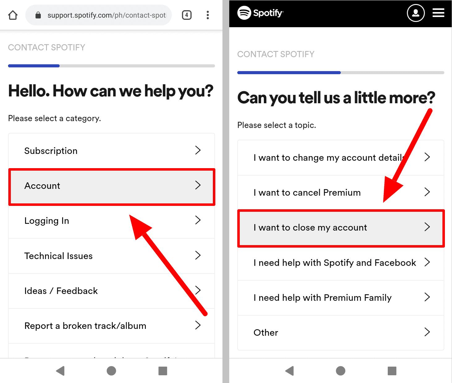 Kontaktujte stránku Spotify