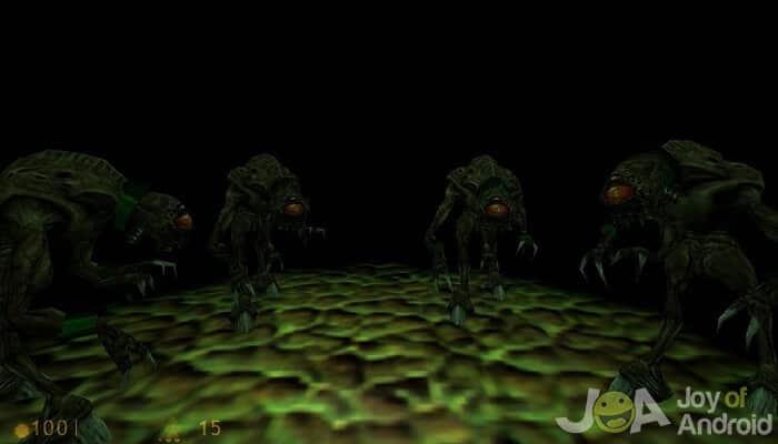Half-Life na obrazovkách Android