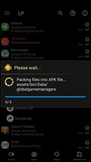 Hacknite hry pre Android pomocou APK REbuild Lucky Patcher