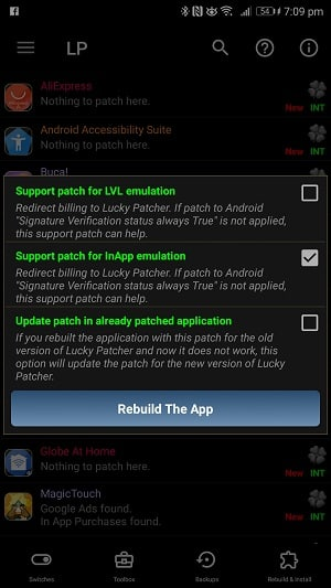 Hackujte Android hry s Lucky Patcher APK REbuild