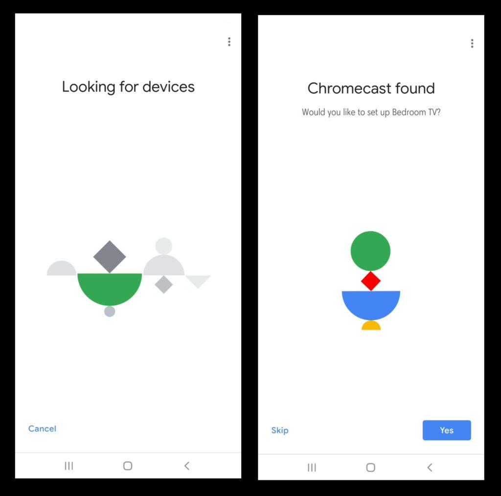 Nastavte Chromecast - nájdite zariadenie