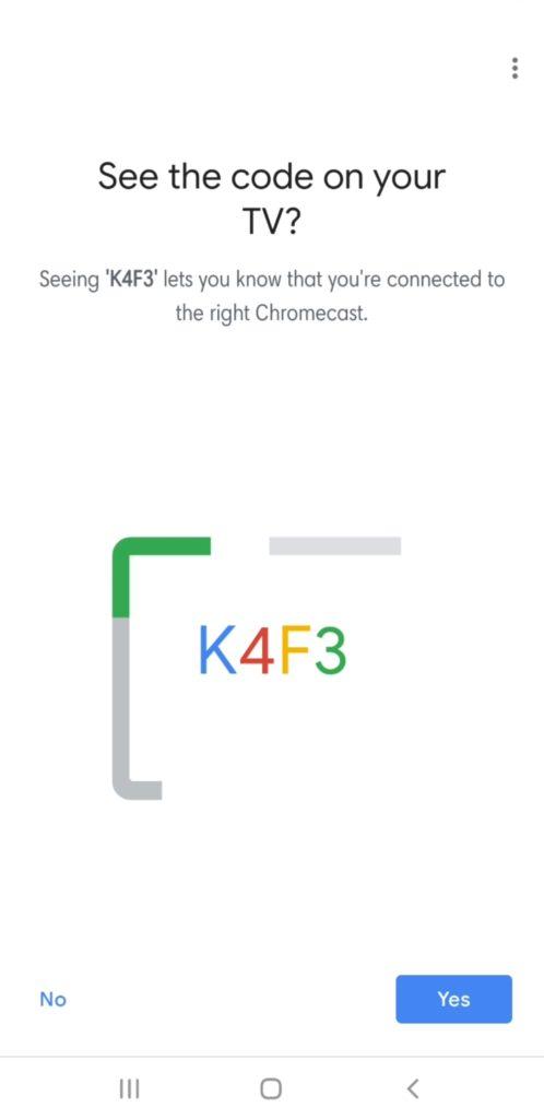 Nastavte Chromecast - televízny prístupový kód