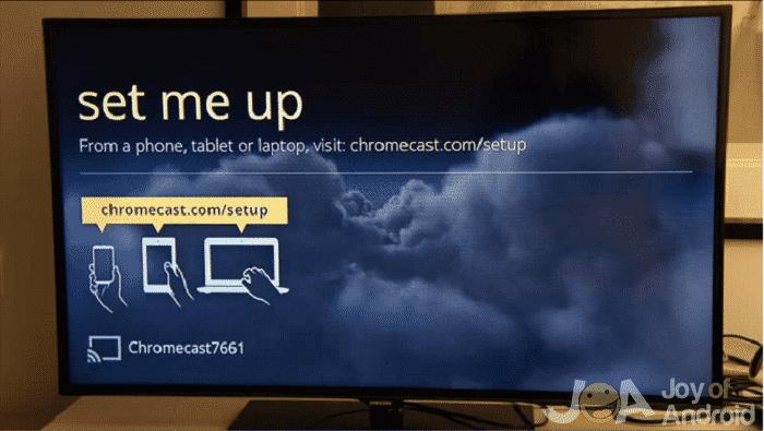 Nastavenie chromecastu
