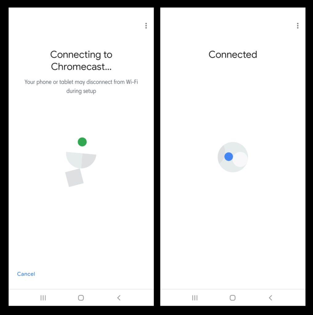 Nastaviť Chromecast - Pripojte sa k Chromecastu