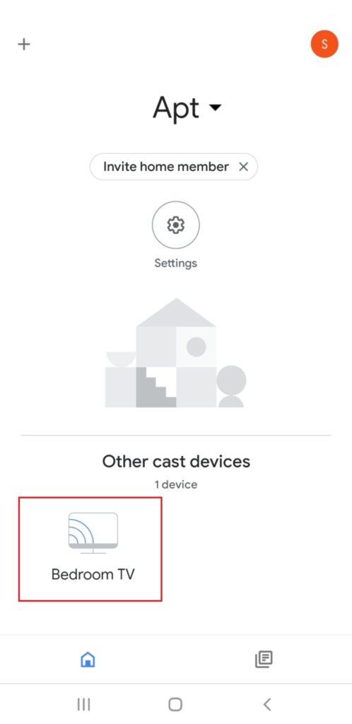 Nastavte Chromecast - domov