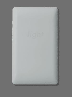 Svetlý telefón sivej farby