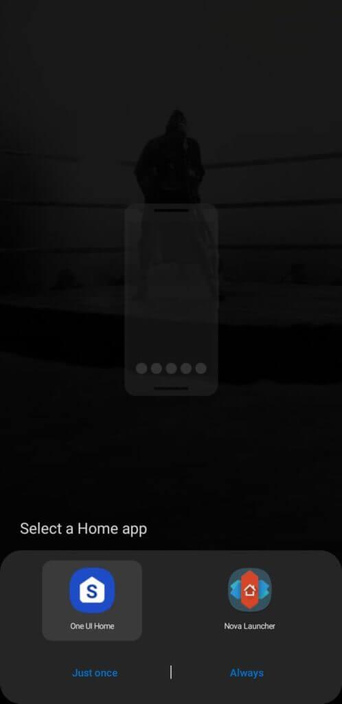 Predvolená výzva pre Android launcher