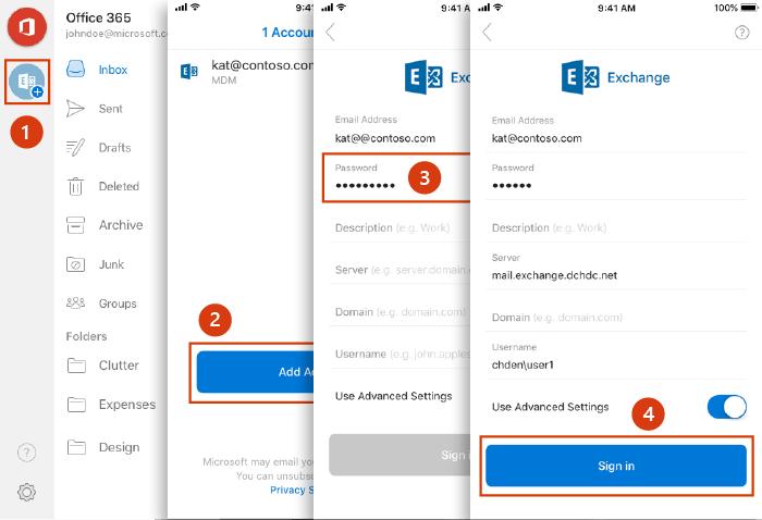 Nastavenie účtu pre Android Outlook