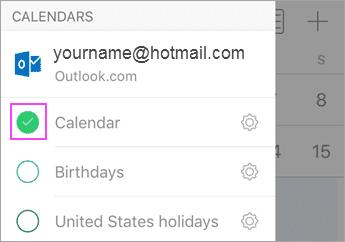 Aplikácia Outlook Sync with Calendar