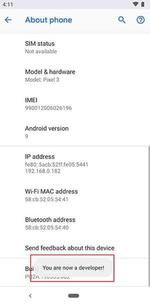 Ako povoliť možnosti vývojára na akomkoľvek telefóne s Androidom - Vývojár