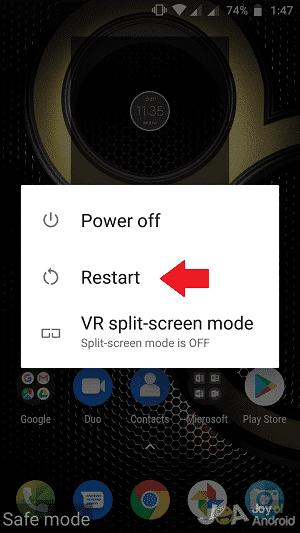 Reštartujte telefón s Androidom v núdzovom režime
