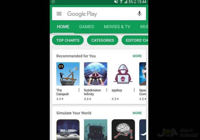 Najnovšia verzia Google Play