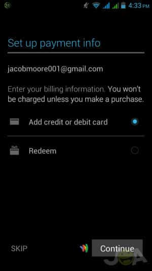 Nastavte informácie o platbe