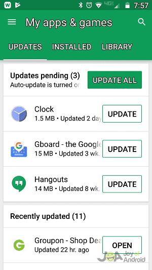Ako nájsť, sú k dispozícii aktualizácie pre Moje aplikácie v systéme Android 2
