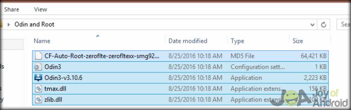 Aktívny koreň Odin Folder S6