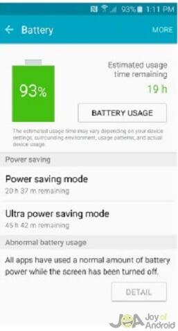 štatistiky batérie