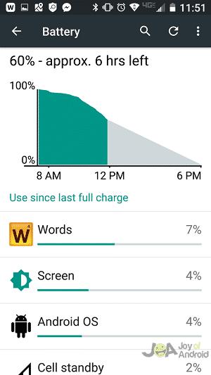 obrazovka batérie