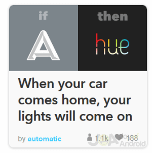 Automatický IFTTT domov