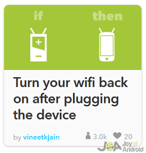wifi na batérii ifttt