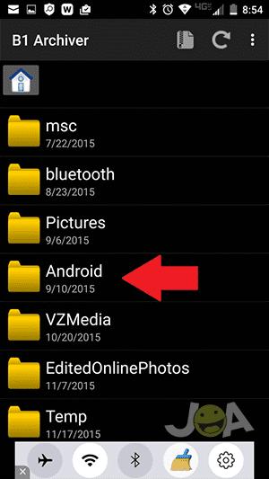 Priečinok Android