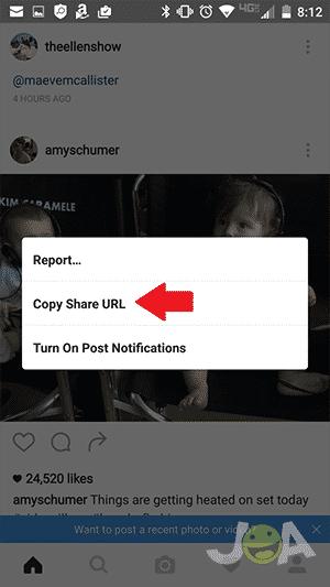 Získať adresu URL