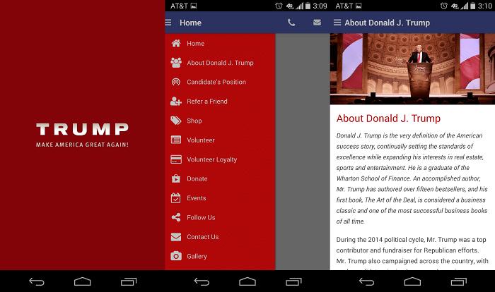 Trumpove obrazovky