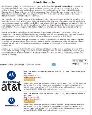 Odomknite Motorola