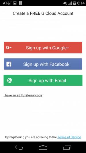 Registrácia do G-cloudu